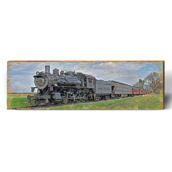 Countryside Steam Train-Mill Wood Art