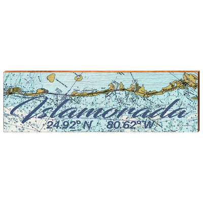 Islamorada, Florida Navigational Chart Wall Art-Mill Wood Art