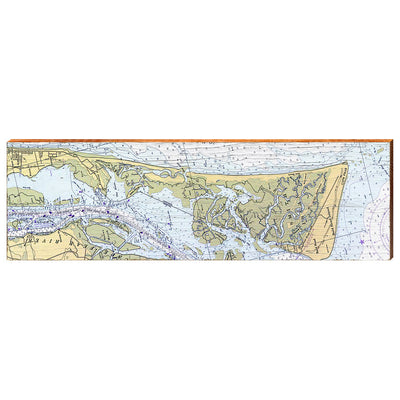 Smith Island and Cape Fear, North Carolina Navigational Styled Chart Wall Art-Mill Wood Art