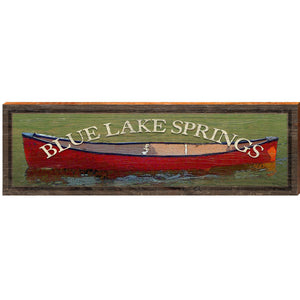 Blue Lake Springs Red Canoe In Water OUT3