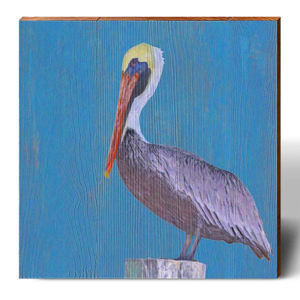 Pastel Pelican-Mill Wood Art