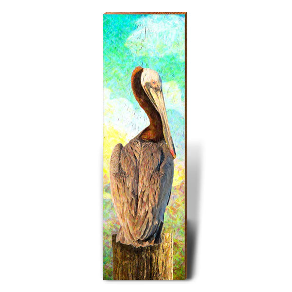 Pelican Dreams-Mill Wood Art