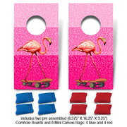 POP! Collection Flamingo Fun Size Cornhole Set-Mill Wood Art