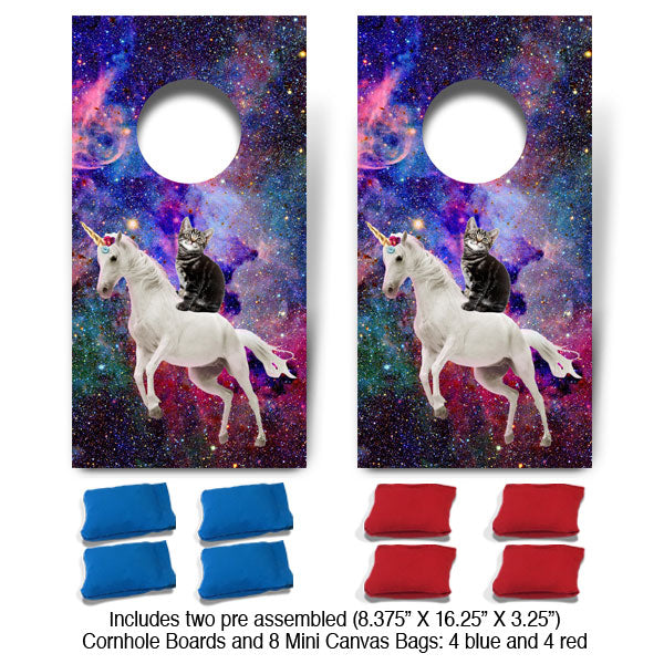 POP! Collection Astro Unicorn Kitten Fun Size Cornhole Set-Mill Wood Art