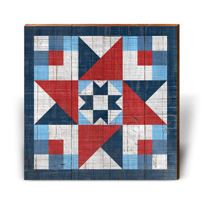 Red, White, and Blue Barn Quilt 6-Mill Wood Art
