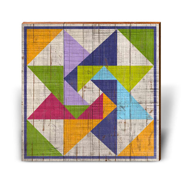 Color Spectrum Barn Quilt-Mill Wood Art