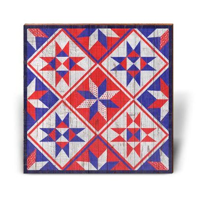 Red, White, and Blue Barn Quilt-Mill Wood Art