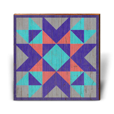 Purple, Blue, Gray Barn Quilt-Mill Wood Art