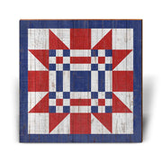 Red, White, and Blue Barn Quilt 2-Mill Wood Art