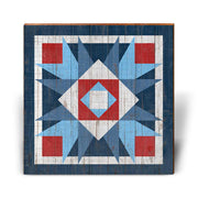 Red, White, and Blue Barn Quilt 4-Mill Wood Art