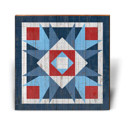 Red, White, and Blue Barn Quilt 4