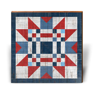 Red, White, and Blue Barn Quilt 5-Mill Wood Art
