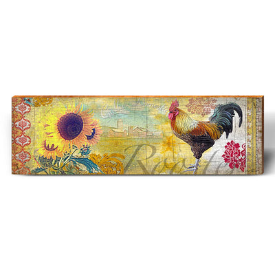 Eclectic Rooster-Mill Wood Art