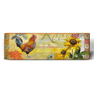 Charmed Rooster-Mill Wood Art