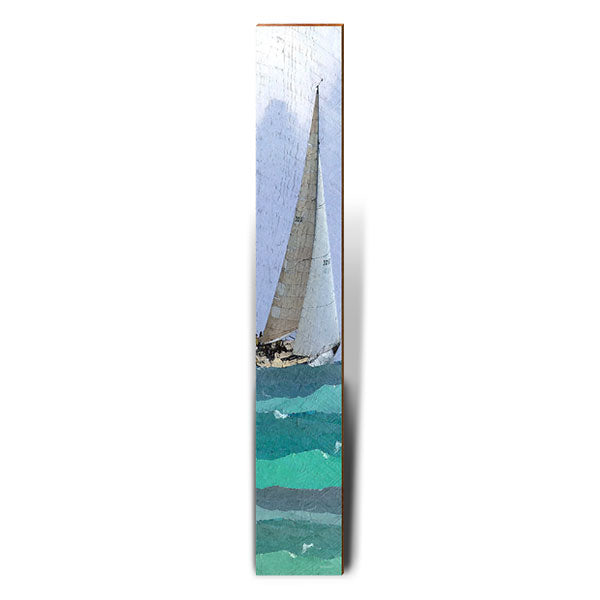 "Rough Seas Sailing - Large | Size: 9.5"" x 60""-Mill Wood Art"