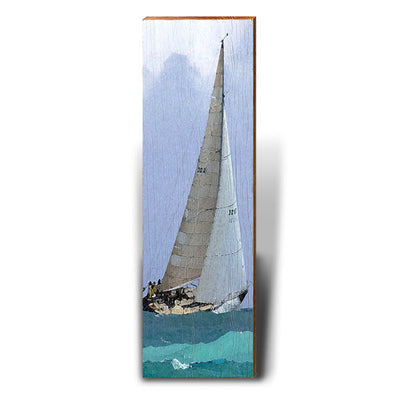 Rough Seas Sailing-Mill Wood Art