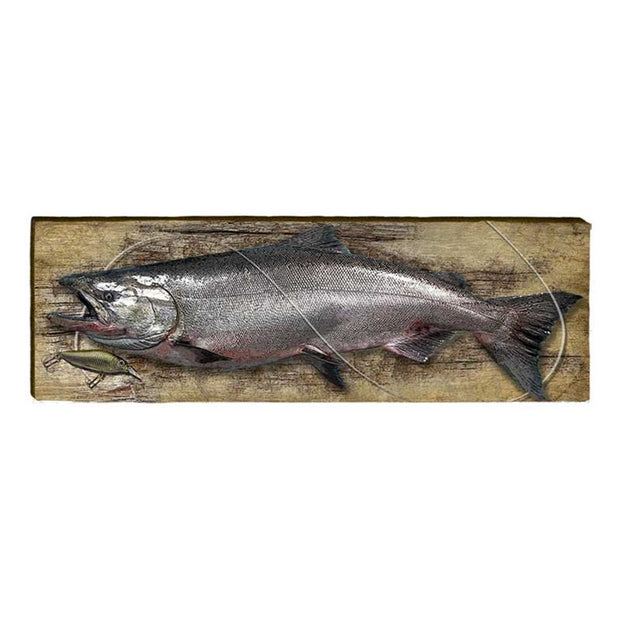 Chinook Salmon Piece-Mill Wood Art