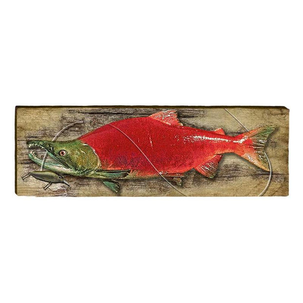 Sockeye Salmon Piece-Mill Wood Art