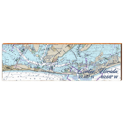 Cortez, Florida Navigational Chart Wall Art-Mill Wood Art