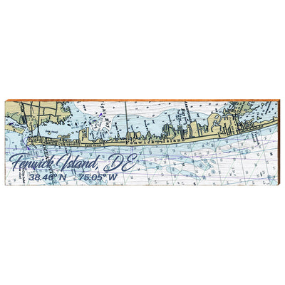 Fenwick Island, Delaware Navigational Chart Wall Art-Mill Wood Art