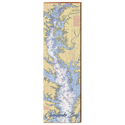 Chesapeake Bay Navigational Chart Wall Art-Mill Wood Art