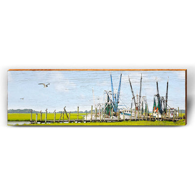 Calabash Shrimp Boats-Mill Wood Art