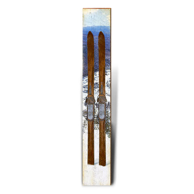 "Vintage Skis Large | Size: 9.5"" x 60""-Mill Wood Art"