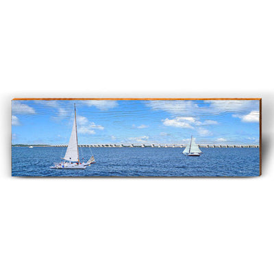 Blue Sky Bay Sailing-Mill Wood Art