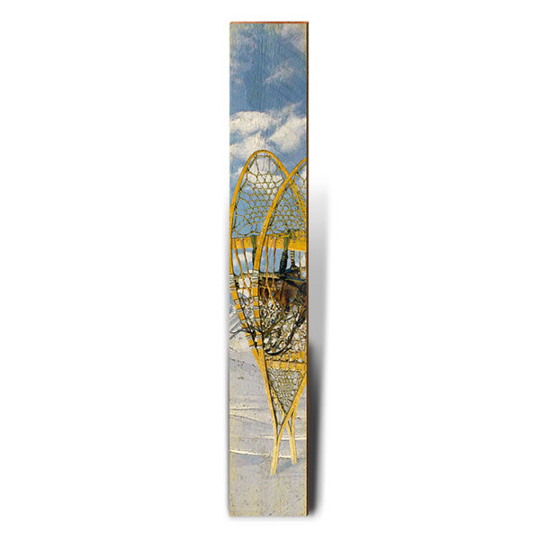 "Vintage Snow Shoes Large | Size: 9.5"" x 60""-Mill Wood Art"