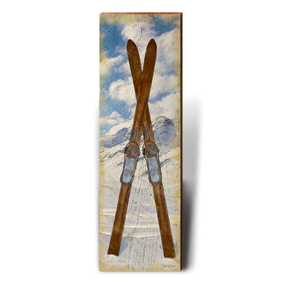 Vintage Crossed Skis-Mill Wood Art
