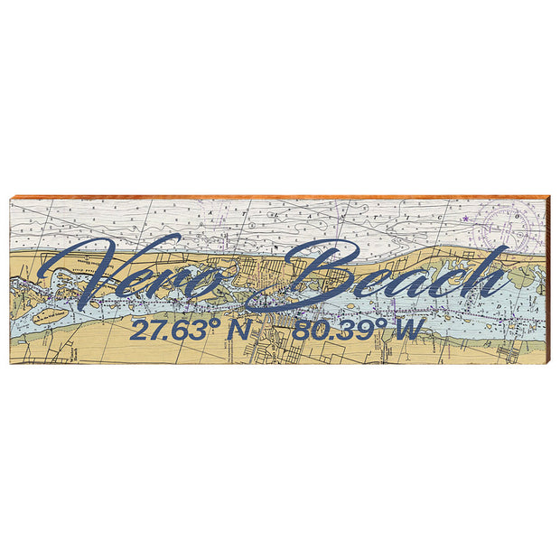 Vero Beach, Florida Navigational Chart Wall Art-Mill Wood Art
