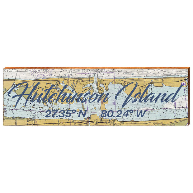 Hutchinson Island, Florida Navigational Chart Wall Art-Mill Wood Art