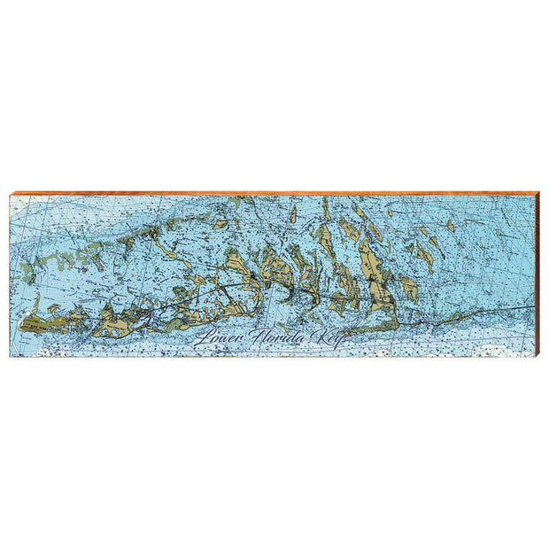 Lower Keys, Florida Navigational Chart Wall Art-Mill Wood Art