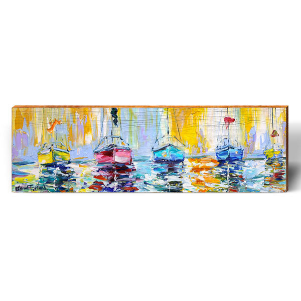 Karen Tarlton Sailboat Fleet-Mill Wood Art