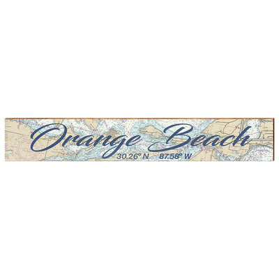 "Orange Beach, Alabama Large Navigational Chart Big Text | Size: 9.5"" x 60"" Wall Art-Mill Wood Art"