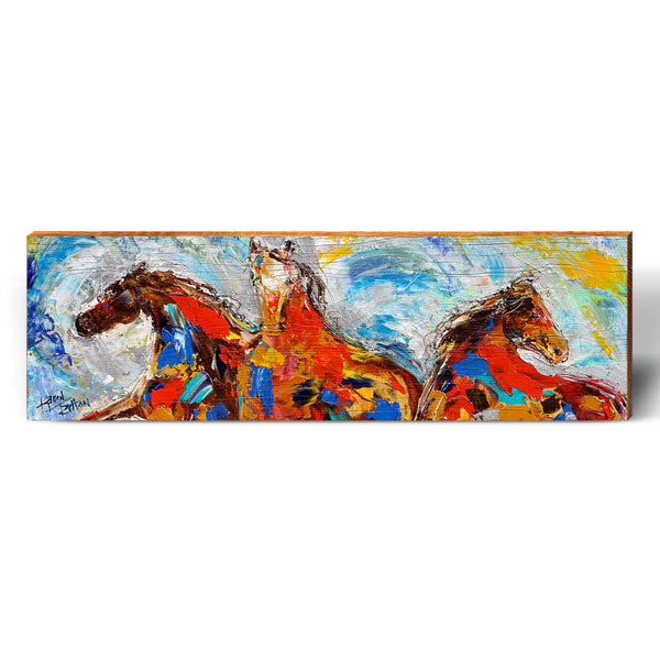 Karen Tarlton Horse Dreams-Mill Wood Art