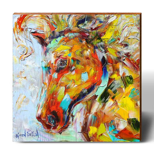 Karen Tarlton Firey Horse-Mill Wood Art