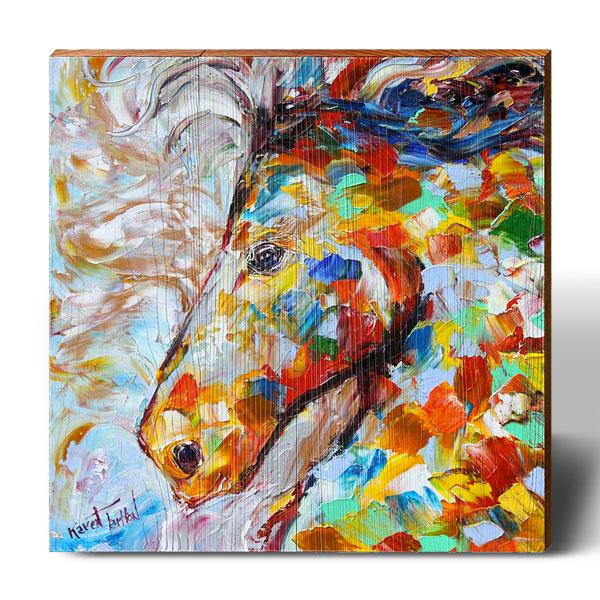 Karen Tarlton Colorful Stallion-Mill Wood Art