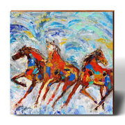 Karen Tarlton Sauntering Horses-Mill Wood Art