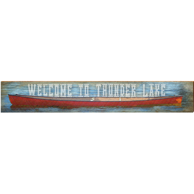 Welcome to Thunder Lake Red Canoe THU2
