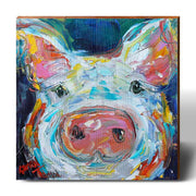 Karen Tarlton Curious Pig-Mill Wood Art
