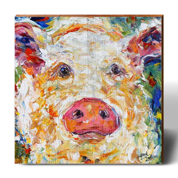 Karen Tarlton Dreamy Pig-Mill Wood Art