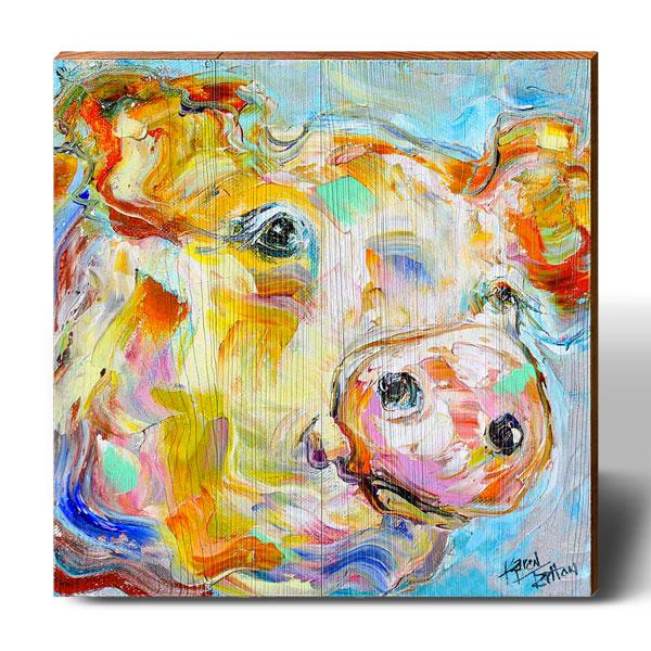 Karen Tarlton Pig Colorscape-Mill Wood Art