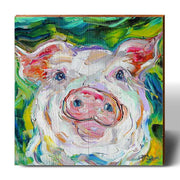 Karen Tarlton Pig Dreams-Mill Wood Art