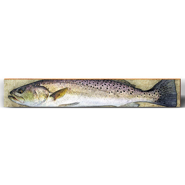 Speckled Trout Large Piece-Mill Wood Art