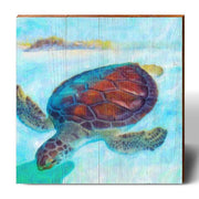 Pastel Loggerhead Square Piece-Mill Wood Art