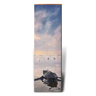 Baby Sea Turtle's Adventure-Mill Wood Art
