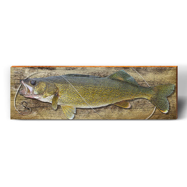Walleye Hook Piece-Mill Wood Art