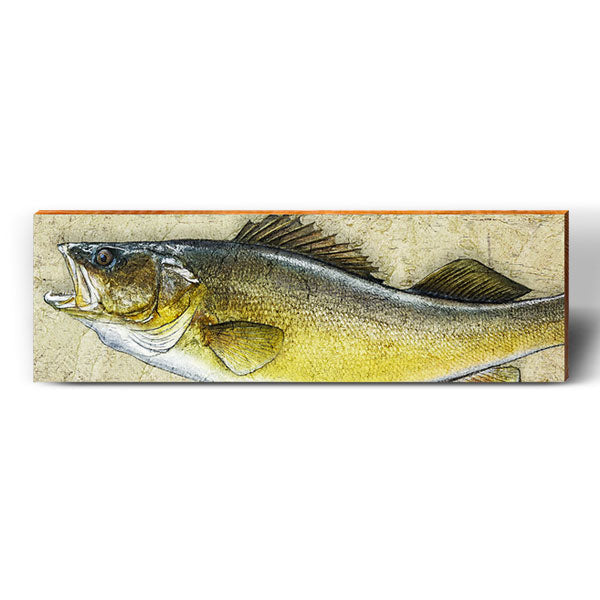 Walleye Art Piece-Mill Wood Art