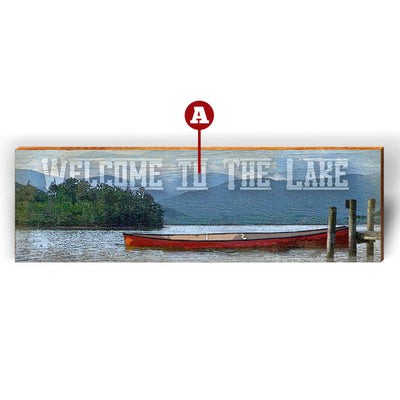 "Customizable Mountain Lake ""Welcome To"" Piece-Mill Wood Art"